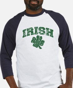 Worn Irish Shamrock Baseball Jersey