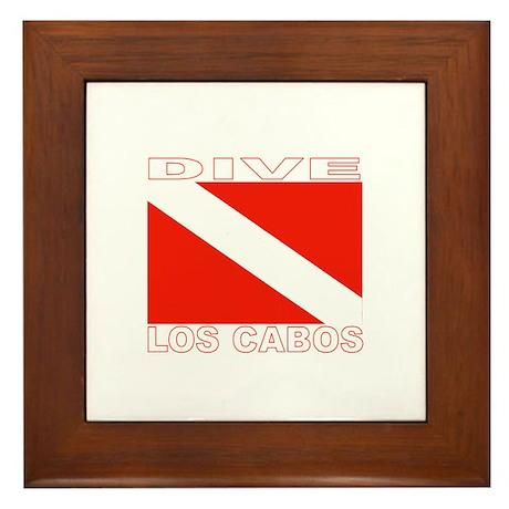 Dive Los Cabos Framed Tile