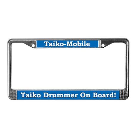 Taiko-Mobile License Plate Frame