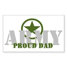 Proud Army Dad Rectangle Decal