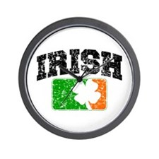 Distressed Irish Flag Logo Wall Clock