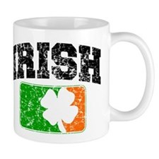 Distressed Irish Flag Logo Mug
