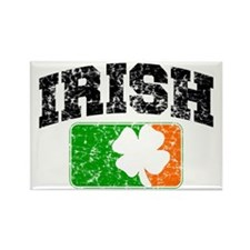 Distressed Irish Flag Logo Rectangle Magnet