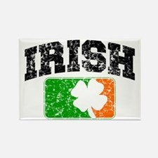 Distressed Irish Flag Logo Rectangle Magnet