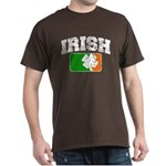 Distressed Irish Flag Logo Dark T-Shirt