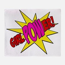 Girl Power Throw Blanket