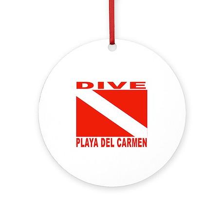 Dive Playa Del Carmen Ornament (Round)