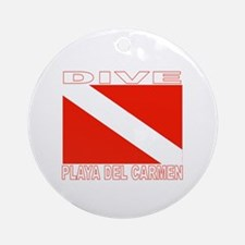 Dive Playa Del Carmen Ornament (Round)