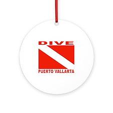 Dive Puerto Vallarta Ornament (Round)
