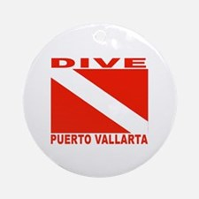 Dive Puerto Vallarta Ornament (Round)