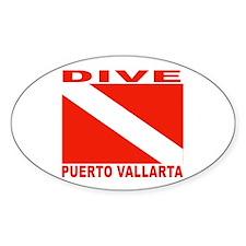 Dive Puerto Vallarta Oval Decal