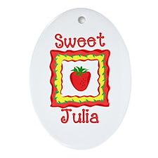 Sweet Julia Oval Ornament