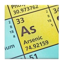 Arsenic on the periodic table Tile Coaster
