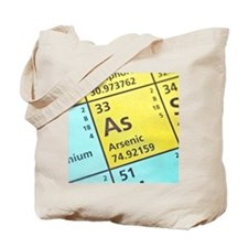 Arsenic on the periodic table Tote Bag