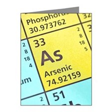 Arsenic on the periodic tabl Note Cards (Pk of 20)