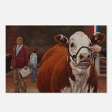 Heifer Class - Hereford Postcards (Package of 8)