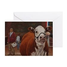 Heifer Class - Hereford Greeting Card