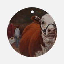Heifer Class - Hereford Round Ornament