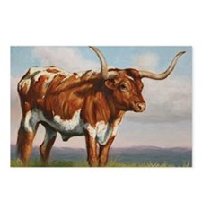 Texas Longhorn Steer Postcards (Package of 8)