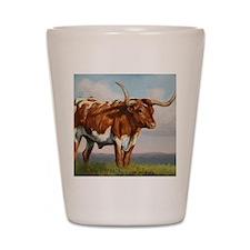 Texas Longhorn Steer Shot Glass