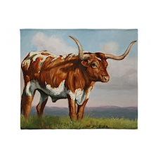 Texas Longhorn Steer Throw Blanket