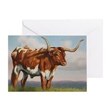 Texas Longhorn Steer Greeting Card