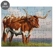 Texas Longhorn Steer Puzzle
