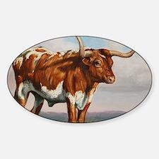 Texas Longhorn Steer Sticker (Oval)