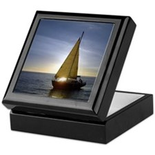 Boat at Sunset Keepsake Box