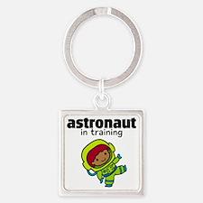 Ethnic Astronaut in Training Square Keychain