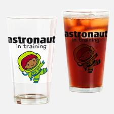 Ethnic Astronaut in Training Drinking Glass