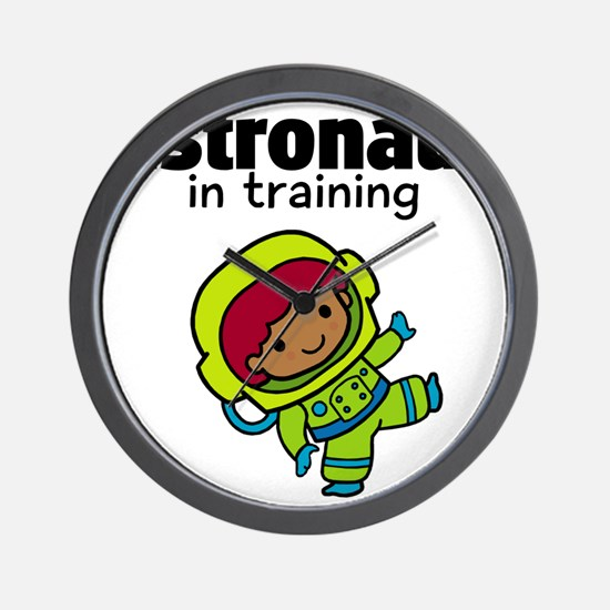 Ethnic Astronaut in Training Wall Clock