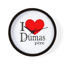 I Love Dumas Pere Wall Clock