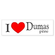 I Love Dumas Pere Bumper Bumper Sticker
