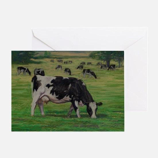 Holstein Milk Cow in Pasture Greeting Card