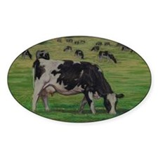 Holstein Milk Cow in Pasture Decal