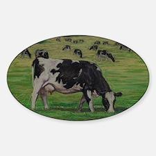 Holstein Milk Cow in Pasture Decal