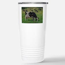 Holstein Milk Cow in Pasture Travel Mug
