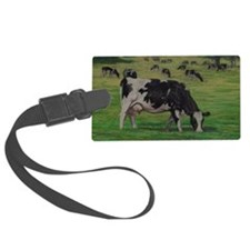 Holstein Milk Cow in Pasture Luggage Tag
