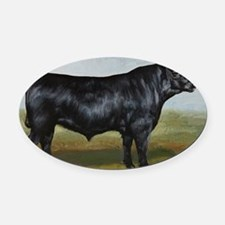 Black Angus Oval Car Magnet