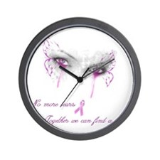 Breast Cancer Awareness - No More Tears Wall Clock