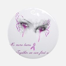 Breast Cancer Awareness - No More T Round Ornament