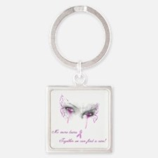 Breast Cancer Awareness - No More  Square Keychain