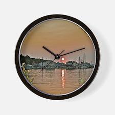 Columbia River Sunset Wall Clock