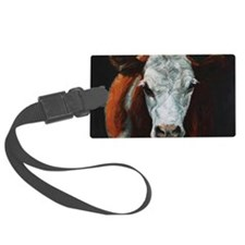Hereford Cattle Luggage Tag