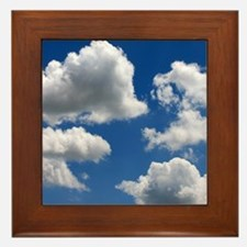 Puffy Clouds Framed Tile