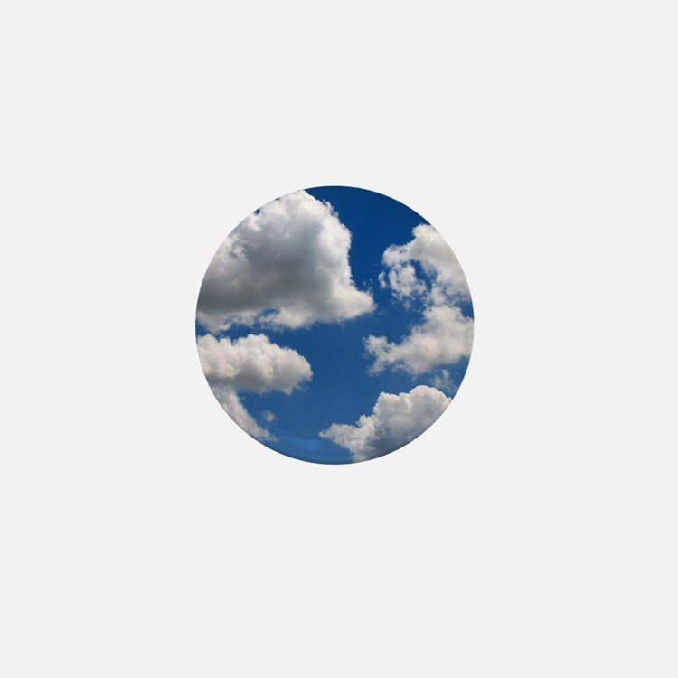 Puffy Clouds Mini Button