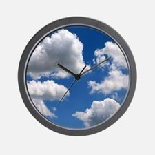Puffy Clouds Wall Clock