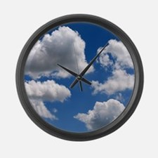 Puffy Clouds Large Wall Clock
