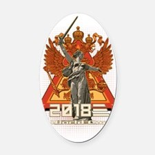 World Cup 2018-Eternal Victory 2 Oval Car Magnet